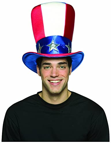 1036f8c83881 Uncle Sam Top Hat The uncle sam hat is patriotic and fun complete your look  by getting the uncles sam wig and beard