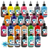StarBrite Colors Sterilized Tattoo Ink - 25 Essential Color Set 1/2 oz (Tamaño: 0.5 ounce bottles)