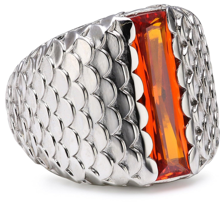 caï Damen-Ring 925 Sterling Silber rhodiniert Zirkonia orange Gr. 60 (19.1) C1371R/90/J5/60 online bestellen