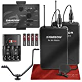 Samson Go Mic Mobile Professional Digital Wireless System with Dual LM8 Lavalier Mic and Belt Pack Transmitter Bundle