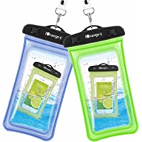 2-Pack iOrange-E Clear Universal Waterproof Cellphone Case (Blue & Green)