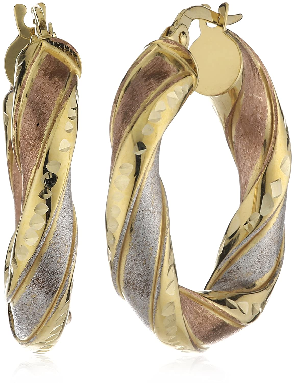 Celesta Damen-Ohrstecker 375 Gelbgold tricolor 23 mm 239310005 jetzt kaufen