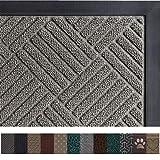 Gorilla Grip Original Durable Rubber Door Mat, 35 x 23, Heavy Duty Doormat for Indoor Outdoor, Waterproof, Easy Clean, Low-Profile Rug Mats for Entry, Patio, High Traffic Areas, Gray Diamond (Color: Gray Diamond, Tamaño: 35