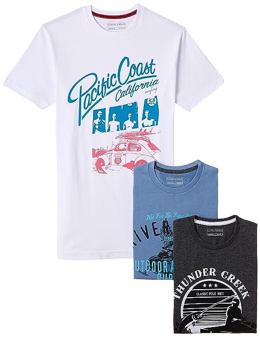 Classic Polo Men's Cotton Polo (Steel Blue) (8903393288395)
