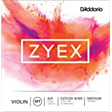 D'Addario Zyex Violin String Set with Aluminum D, 4/4 Scale, Medium Tension (Tamaño: Medium Tension)