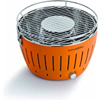 Lotus Grill Mandarin Smokeless Charcoal Grill With Transport Bag (Mandarin Orange)