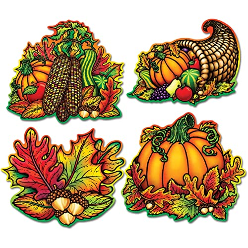 16 Autumn Splendor Cutout Decorations