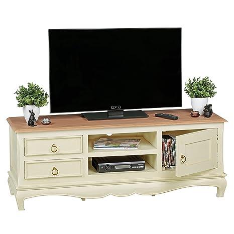 Mobile TV design vintage legno massiccio Mango/Acacia