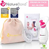 NatureBond Silicone Breastfeeding Manual Breast Pump Milk Saver Suction | Bonus Pump Stopper, Cover Lid, Pouch, Air-Tight Vacuum Sealed in Hardcover Gift Box. BPA Free (Tamaño: 100 ML (NEW 2019 Model))