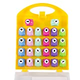 Scrapbook Paper Punchers - 26pc Mini Paper Punchers w Case - All Different Crafting Designs