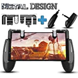 Fortnite PUBG Mobile Game Controller – [Newest Version] Cell Phone Gaming Joystick Accessories, Gamepad, L1R1 Sensitive Shoot and Aim Triggers Fire Buttons for iOS Android (2 Trigger and Game pad)