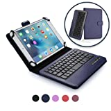 LG G Pad 8.3 keyboard case, COOPER INFINITE EXECUTIVE 2-in-1 Wireless Bluetooth Keyboard Magnetic Leather Travel Cases Cover Holder Folio Portfolio + Stand Google Play Edition (Dark Blue)