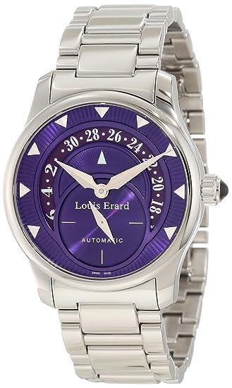 Louis Erard Women's 92600AA07.BMA16 Emotion Automatic Purple Dial Steel Date Watch