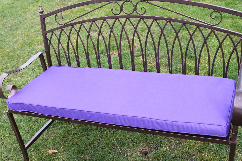 Gartenmöbel-Auflage – Auflage für 2-Sitzer-Gartenbank, aus Metall, in Violett online kaufen