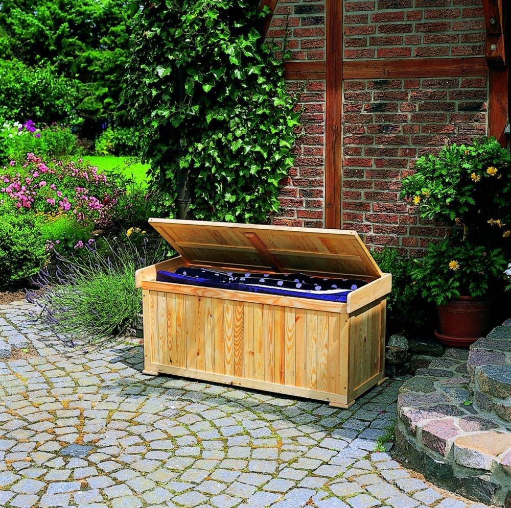 Kissenbank mit Auflage Sitztmöbel Kissenbox Holz Gartenmöbel jetzt kaufen