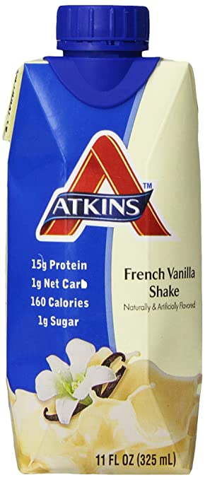 Atkins Advantage Shake, Creamy Vanilla, 4 ct, 11 oz each