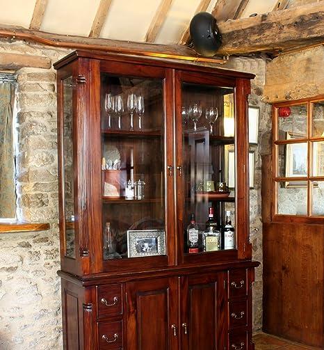 La Roque Mahagoni dark Möbel Schrank Kommode TOP Display