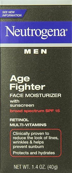 Neutrogena Men Age Fighter Face Moisturizer with Sunscreen, 1.4 Ounce