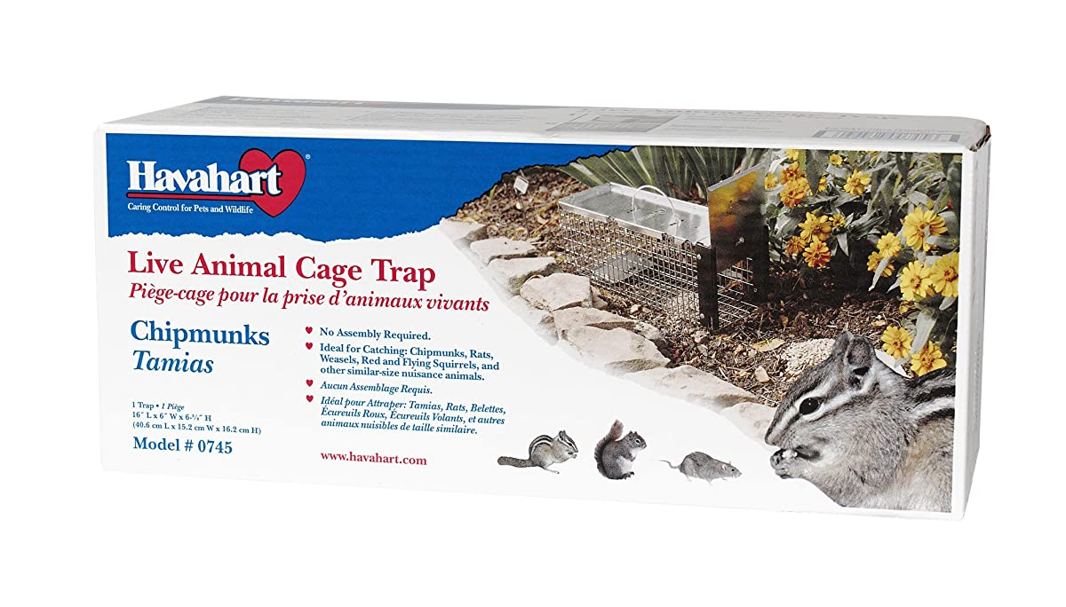 Havahart 0745 One-Door Animal Trap for Chipmunk, Squirrel, Rat, and Weasel, X-Small