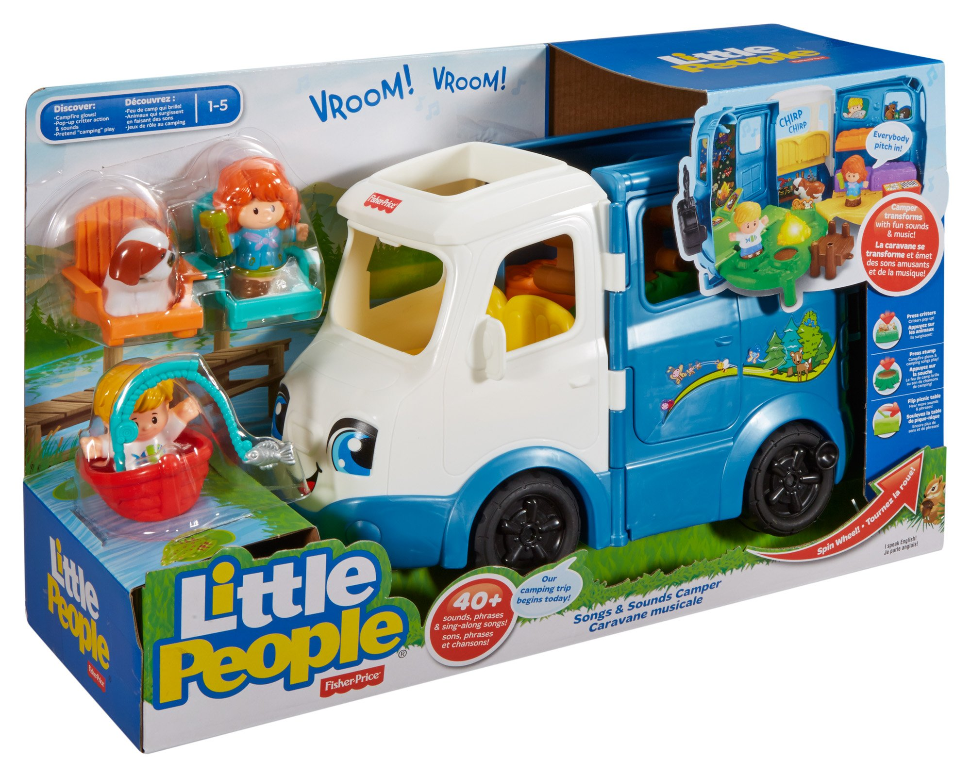 Fisher-Price Little People Songs Sounds Camper, Kids Toys ...