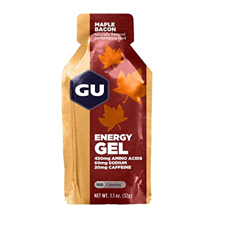 GU Energy Gel, Maple Bacon (Schinken Ahornsirup), Box mit 24 x 32 g