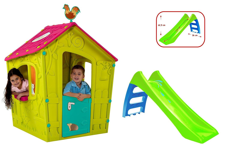 Spielhaus Kinderspielhaus und Rutsche Komplettset für indoor und outdoor günstig