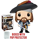 Funko Pop! Disney: Pirates of the Caribbean - Barbossa Vinyl Figure (Bundled with Pop BOX PROTECTOR CASE) (Tamaño: 3.75 inches)