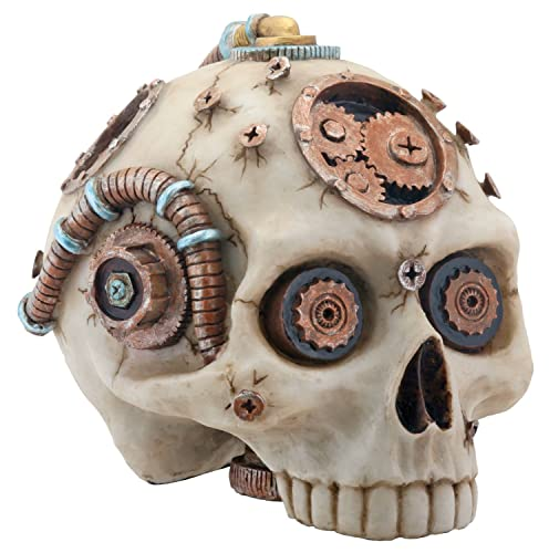 Steampunk Gear Design Skull Head Decoration Statue