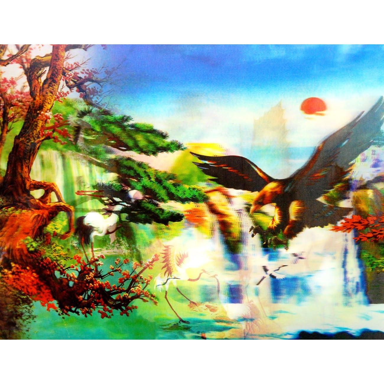 彩风景画_中国极彩风景画 3d立体画