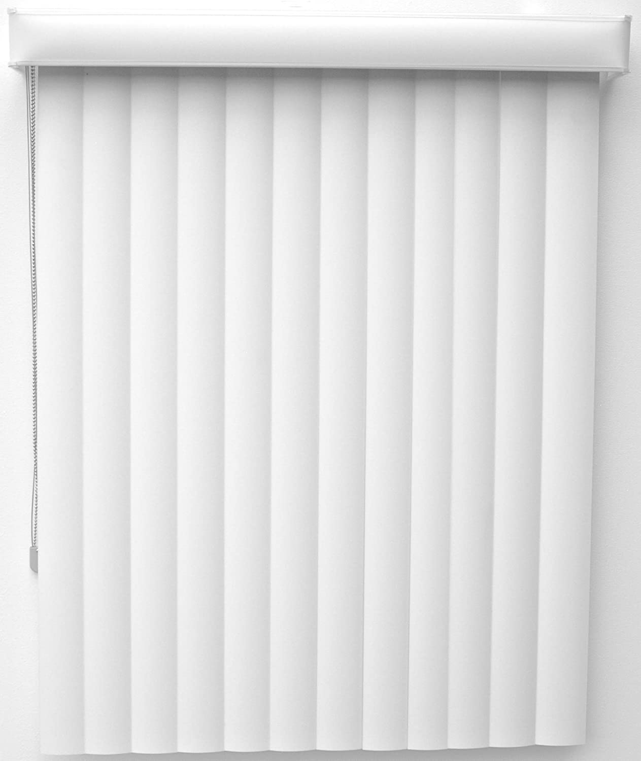New Age Simplicity Collection Curved Soft Center Opening Vertical Blinds with Dust Cover Valance, Outside Mount, 17-1/4 by 37-1/4-Inch, White туалет new age pet products new age