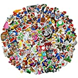 Meet Holiday Super Mario Stickers 100 PCS Cute Cartoon Game Comics Vinyl Waterproof Stickers Kids Room Decor Sticker (Super Mario)