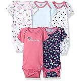 Gerber Baby Girls 5 Pack Onesies, Princess, 3-6 Months (Color: Princess, Tamaño: 3-6 Months)