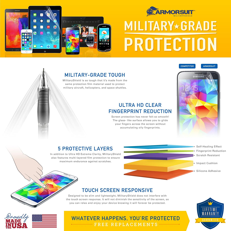 ArmorSuit MilitaryShield - iPod Nano 7th Generation Screen Protector Shield + Full Body Skin Protector & Lifetime Replacements hhi ipod nano 6th generation silicone looper skin case yellow