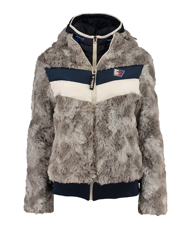 Superdry Damen Winterjacke Antarctic Apres Ski Grau kaufen