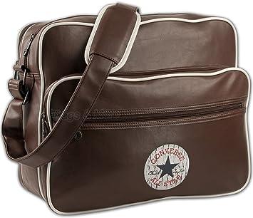 Converse Vintage Patch Shoulder Flap Bag Tasche Chocolate Brown 90