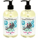 Natural Baby Shampoo Body Wash - Daisy's 2-in-1 Shampoo/Body Wash for Sensitive Skin - Unscented, 12 oz, 2 Pack (Tamaño: 2 Pack - 12 oz)