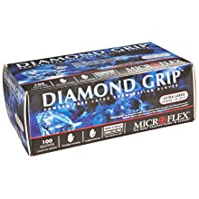 Microflex MF300XL Powder Free Diamond Grip Latex Gloves Size Extra Large (100 per Box)