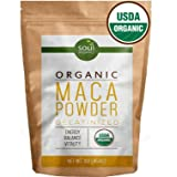 Organic Maca Powder From Maca Root - Purest Premium Vegan Superfood, Gelatinized from Raw for Fertility, Hormone Balance, Energy and Vitality for Women and Men - Yellow Maca with Black, Red Blend 1 lb (Color: Yellow Black Red, Tamaño: 1lb Bag of Maca Root Powder)
