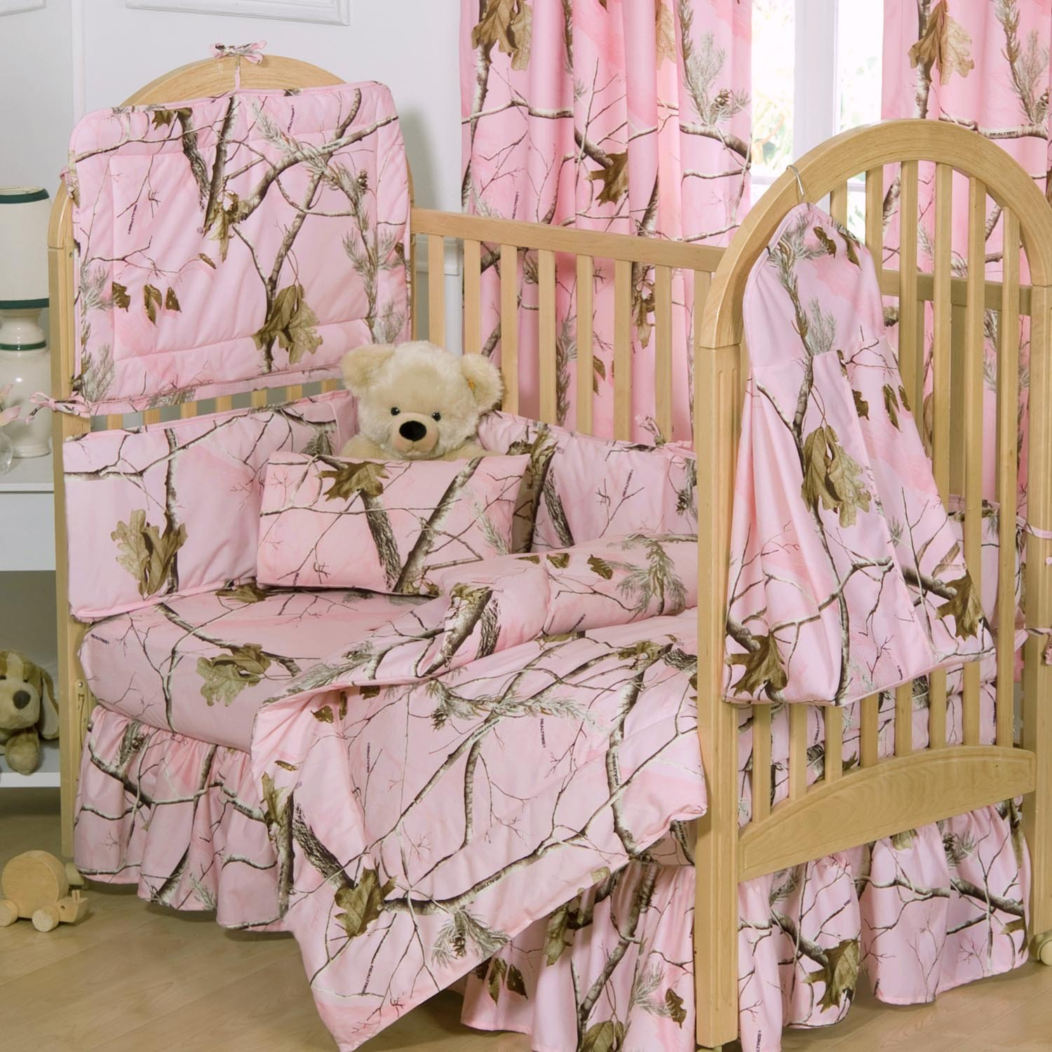 Realtree camo crib bedding crib pink camo bedskirt baby girl