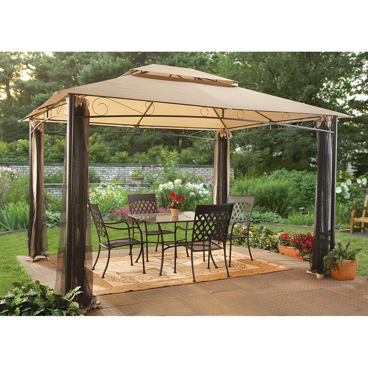 castlecreek classic garden gazebo home decor and. Black Bedroom Furniture Sets. Home Design Ideas