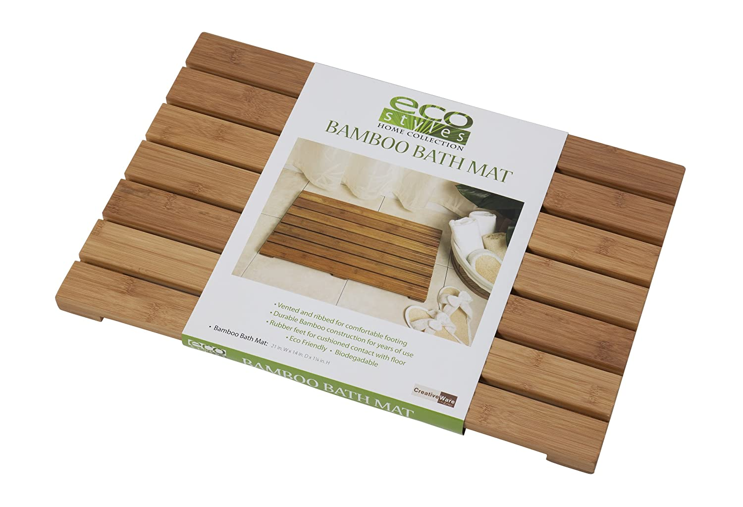 Creative Bath Eco Styles Bath Mat Bamboo New Free