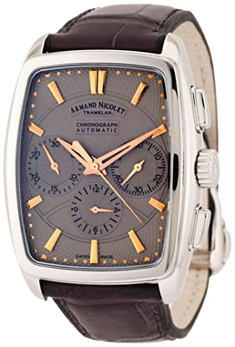 Armand Nicolet Men's 9634A-GS-P968GR3 TM7 Classic Automatic Stainless-Steel Watch