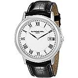 Raymond Weil Men's 54661-Stc-00300 Quartz Stainless Steel White-Dial Watch (Color: Black/White, Tamaño: Standard)
