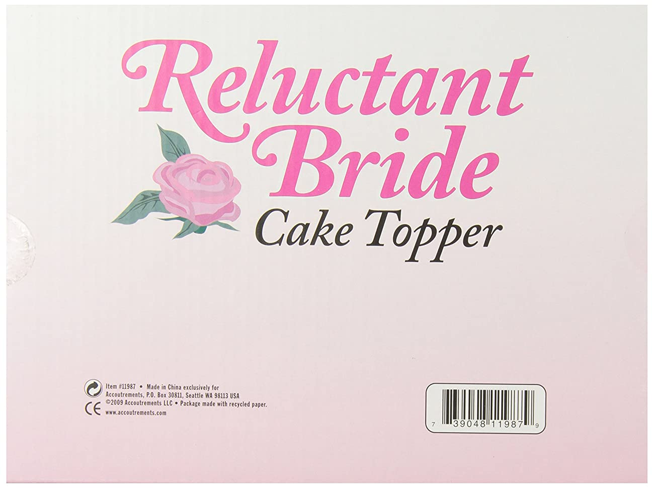 Accoutrements Reluctant Bride Cake Topper 1