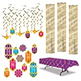 Arabian Nights Decorations - Magical Moroccan Inspired Party Decor (24 Pieces)