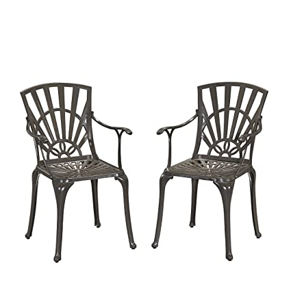 Home Styles 5561-802 Largo Outdoor Dining Chair Pair