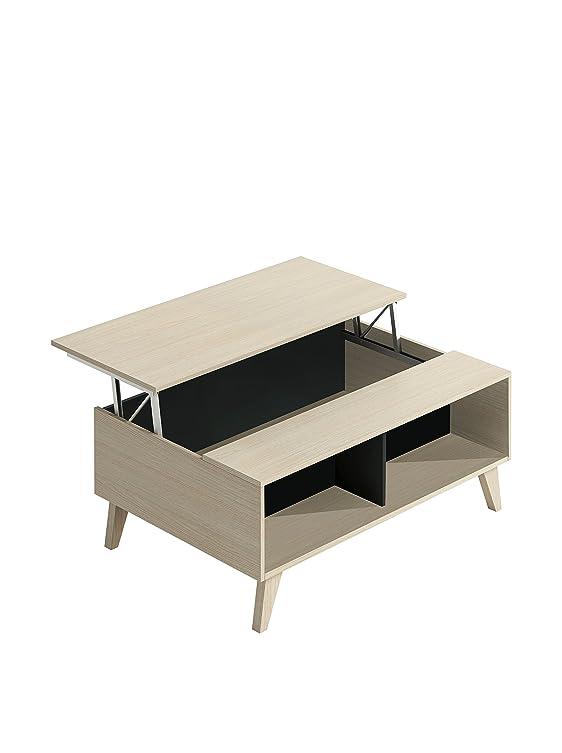 13Casa moka a3 tavolino caffe'. dim. 100*68*41h cm. melamina. rovere/antracite.