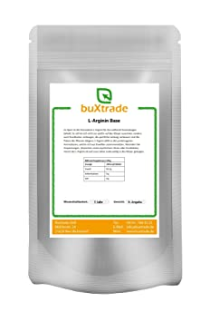 2 x 1 kg L-Arginin Base Pulver 100% rein L Arginin Aminosäure Fitness 2 kg
