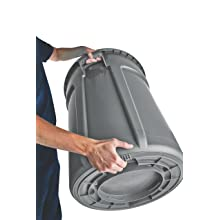 Rubbermaid Commercial FG264360YEL Brute 44-Gallon Garbage Can, 24-inch Diameter