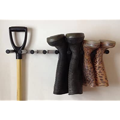 Aluminium wall mounted wellington boot rack,welly,hunter,riding boots,garden